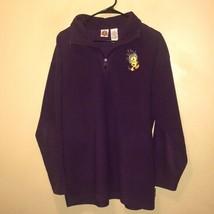 Looney Tunes Purple Tweety Bird Pullover 1/4 Zip Collared Sweatshirt Jac... - $17.35