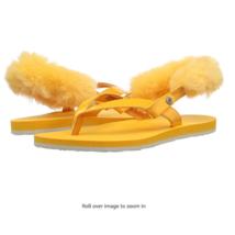 NEW UGG Australia ORANGE LAALAA removable back Strap Sandals removable W... - $29.69
