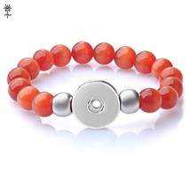Wholesale 10pcs Ginger Snap Jewelry Opal Beads Elastic Stretch Bracelet for 18mm - $46.65