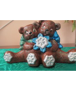 Handcrafted Ceramic Teddy Bears With Snowflakes - $4.99