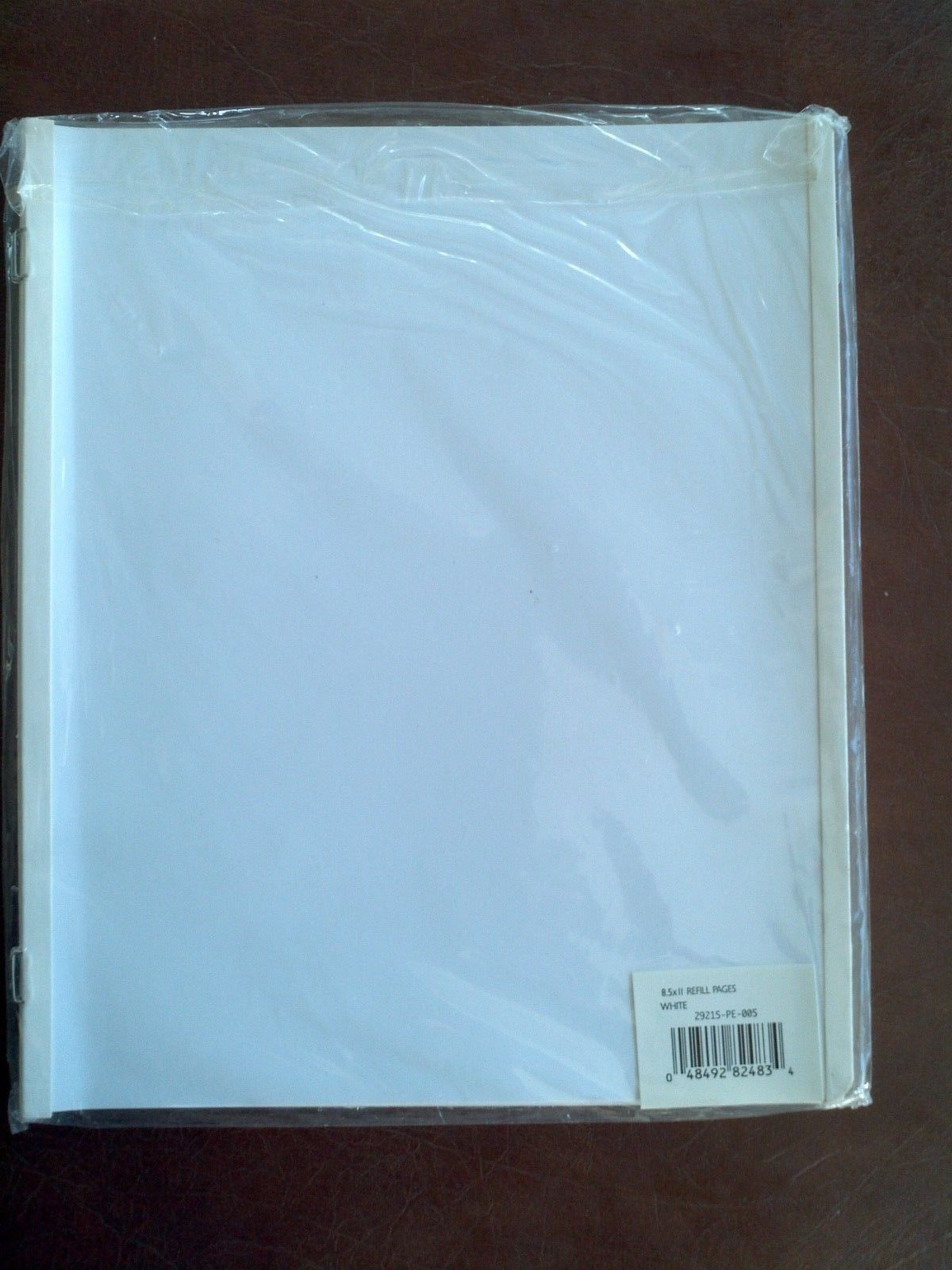 Westrim Crafts 8.5x11 White Scrapbook Refill Pages Package of 10 #29215