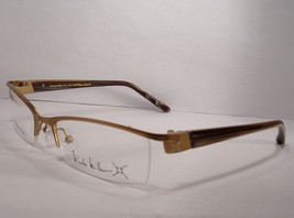 Nicole Miller Mon Amie Cognac Gold new Women Eyeglasses Frames - $77.80