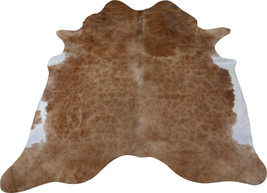 Hereford Cowhide Rug Size 6.5' X 6.7' Brown and White Cow Hide Rug M-273 - $167.31