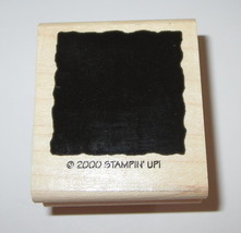Square Background Rubber Stamp #2 Stampin' Up! 2000 Shapes EUC - $3.85