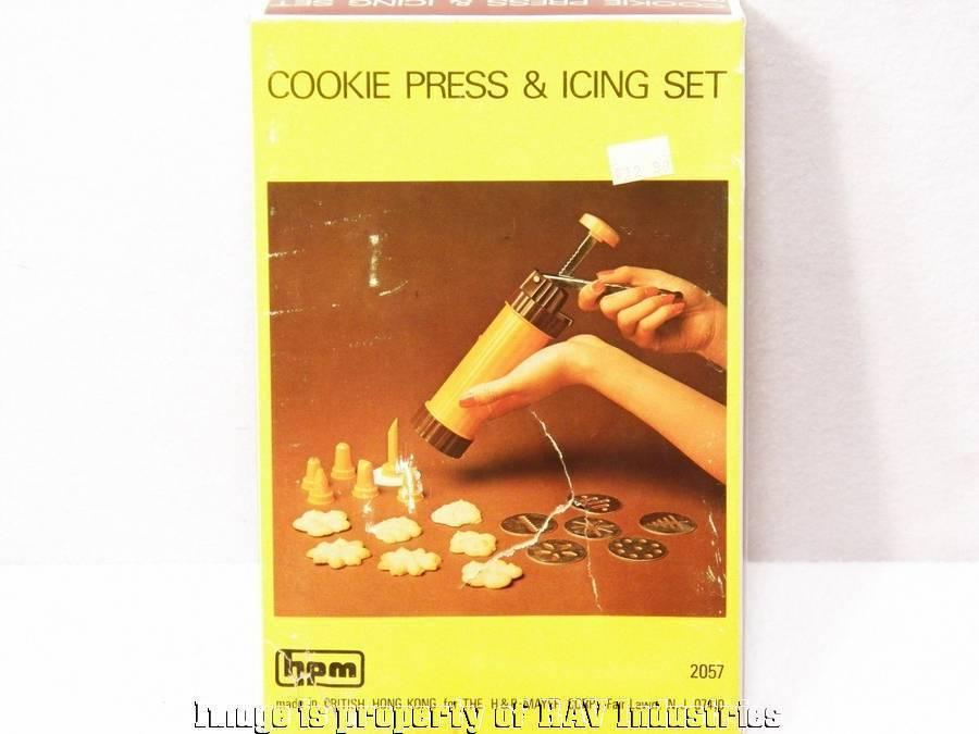 Vintage H&P Mayer Cookie Press & Icing Set IOB