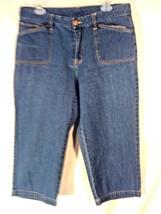 Bill Blass J EAN Wear Women's Capri Denim Blue J EAN S Pants 12 Free Shipping! (F) - $14.95
