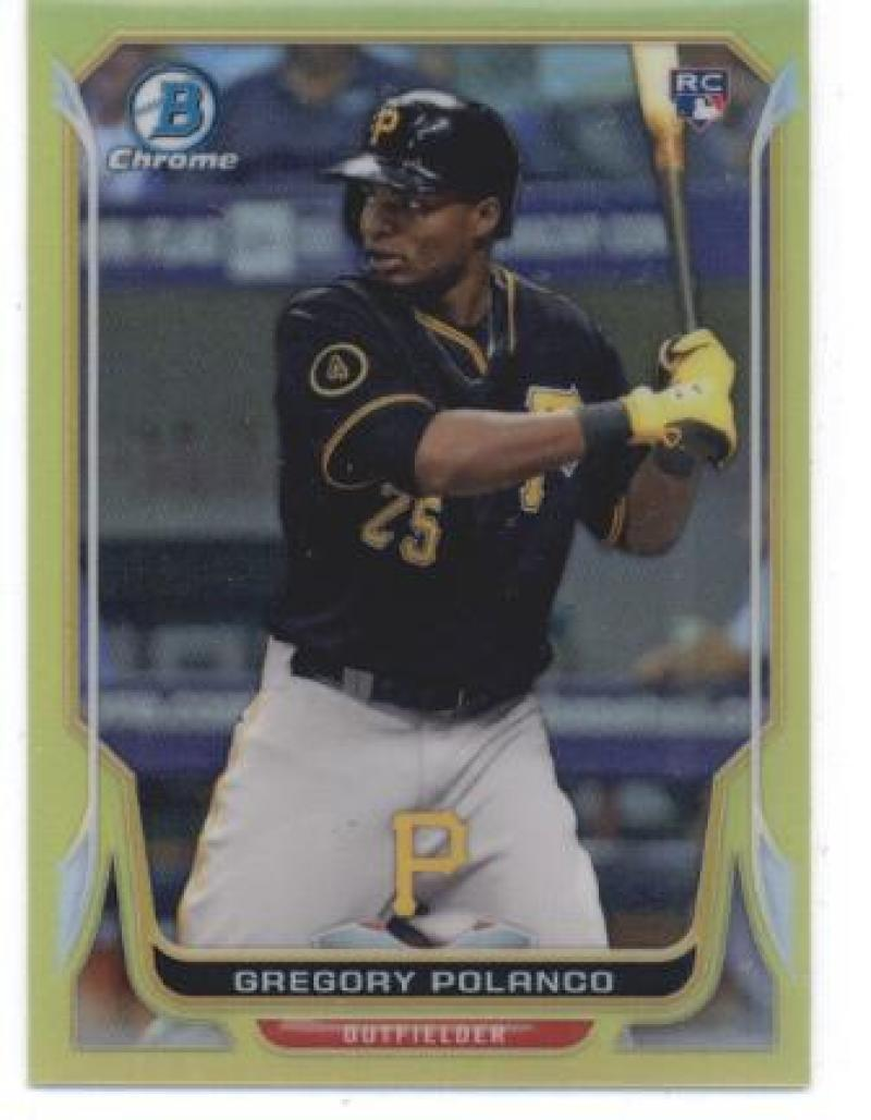 Primary image for 2014 Bowman Chrome Mini Refractors Yellow #322 Gregory Polanco Pirates NM-MT SER