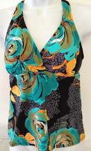 Dana Buchman Swim Tankini Halterkini Top Floral MultiColor Padded 6 MSRP... - $14.99