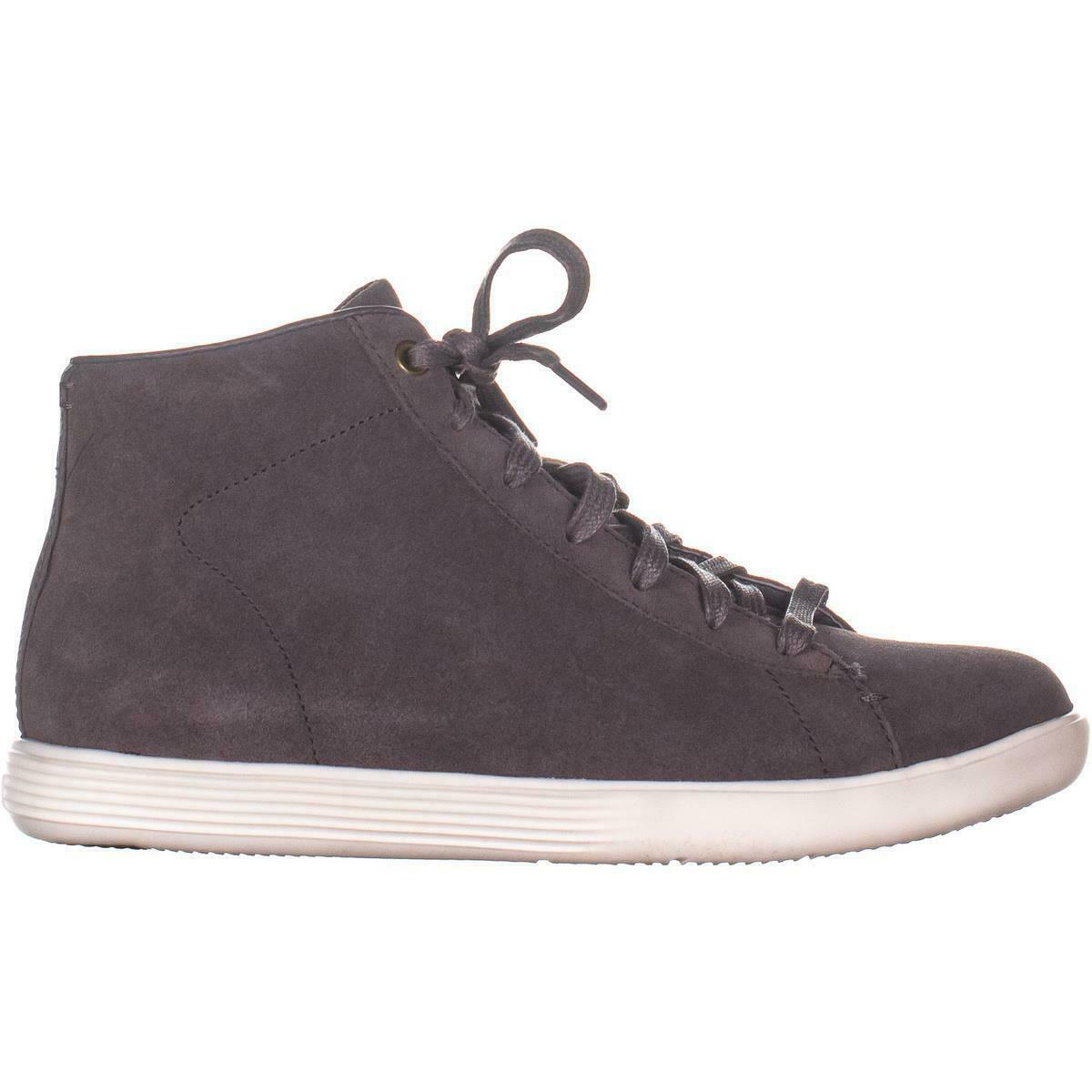 4c08c78c Cole Haan Grand Crosscourt High Top Sneakers, Stormcloud Suede, 6 US