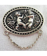 ANGEL CHERUB Sterling Silver Vintage BROOCH Pin - signed REO - 1 1/2 inches - $45.00