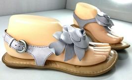 Born Sandals Womens Light Purple Leather Flower Accent Shoes Size 7 / 38 - $39.55