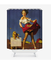 Sexy Woman 27 Shower Curtain Waterproof Polyester Fabric For Bathroom - $33.30+