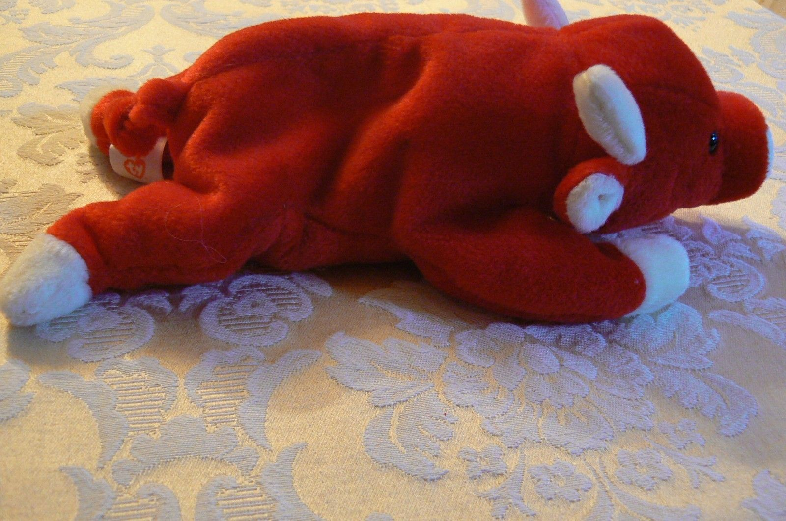 "Vintage Ty Beanie Babies Snort "" The Bull "" Hang Tag/Tush Tag 1995 image 5"