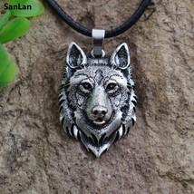 Sanlan 1pcs Wolf Necklace Pendant Animal Power Norse Viking Amulet Neckl... - $11.98