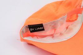 Vtg 90s Cayman Islands Spell Out Adjustable 3 Panel Floppy Brim Hat Neon Orange image 6