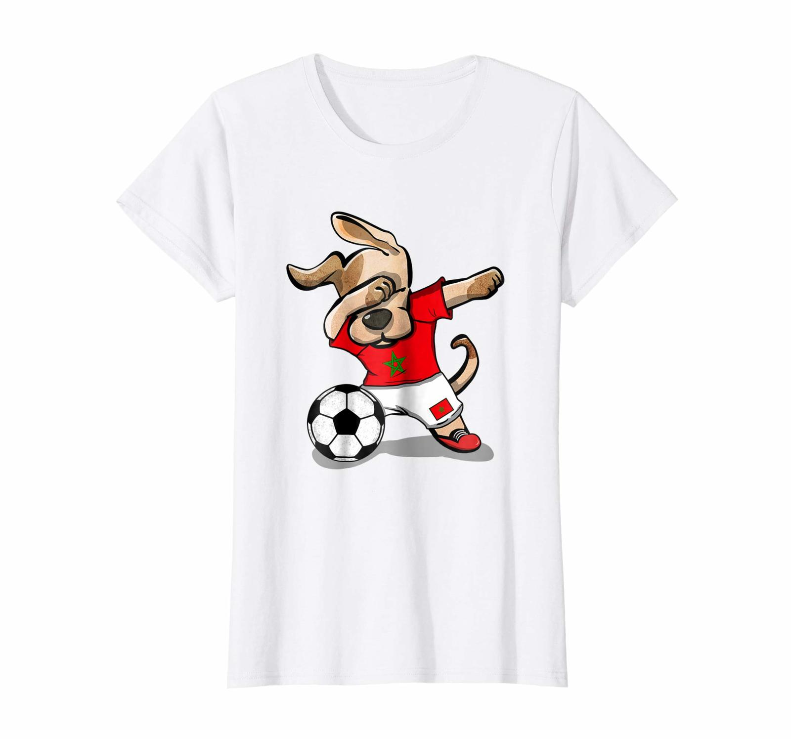 Primary image for New Shirts - Dog Dabbing Soccer Morocco Jersey Shirt Moroccan Football Wowen