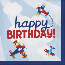 "Lil' Flyer Airplane 2 Ply ""Happy Birthday"" Printed Luncheon Napkin, Case... - $42.35"