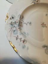 """Lorenz Hutschenreuther Set Of Three 8.5"""" Soup Bowls Germany White Gold Floral - $28.71"""