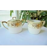 Noritake Pattern # 16034 Sugar Bowl with Lid and Creamer - $23.76
