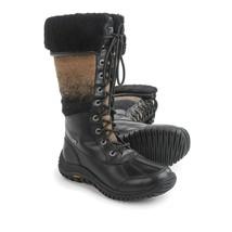 NEW UGG Australia Adirondack Boots Tall - Black & Tan Wool sz 5 - $97.02