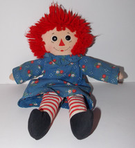 "Raggedy Ann 13"" Plush Love Heart Hasbro Softies Vintage Stuffed Doll Gru... - $14.99"