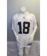 Oakland Raiders Jersey (Retro) - Randy Moss # 18 - Away White - Men's Large - $75.00