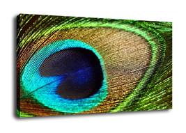 Original Oil Painting Print On Canvas Modern Decor Art feather Frame - $15.47+
