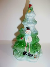 Fenton Glass Green Snowman Whimsey Let It Snow Christmas Tree Figurine L... - $193.52