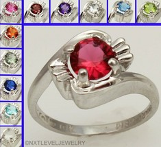 Vintage SIGNED Interchangeable 12 Gemstone 10k Solid Gold Ladies Cocktail Ring - $550.94