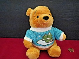 "Disney Store Pooh Bear Winter Sweater 6"" Plush Doll - $6.44"