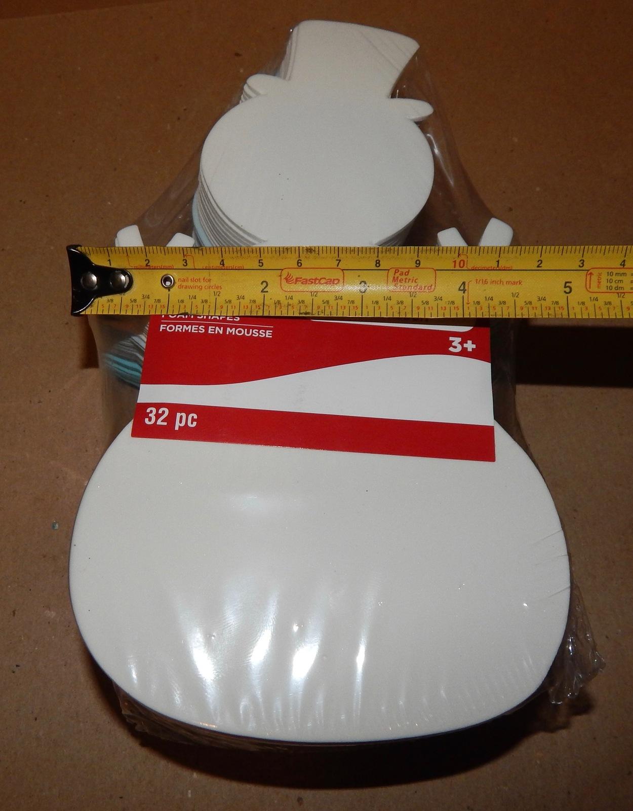 Christmas Foam Ornament Shapes 32pc Value Pack Crafts Snowman Creatology 148C