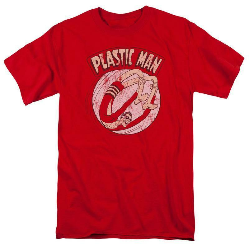 Plastic Man T-shirt retro DC Saturday morning cartoon superfriends cotton DCO550