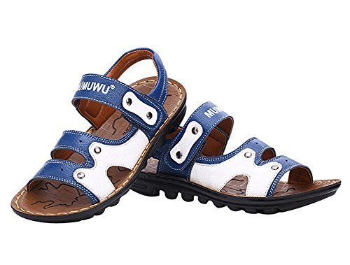 Fashion Boy's Outdoor Casual Beach Sandal Leather Shoes BLUE, Feet Length 16CM