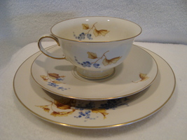Rosenthal China selb-plossberg Germany aidi 3 pc. white porcelain lunchen set - $25.00