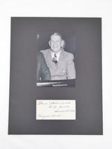 Herbert Hitchcock Signed Matted 11x14 Display Senator South Dakota Autog... - $197.95