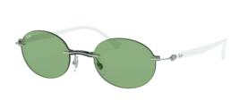 Ray ban Licht Ray RB8060 Weißer Rahmen / Grüne Linse (003/2) 54MM Sonnenbrille - $117.62