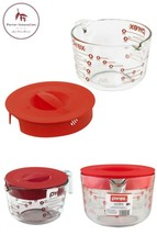 8 Cup Glass Measuring Cup With Red Lid - £25.05 GBP