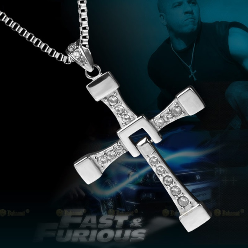 The Fast and The Furious Vin Diesel Titanium Steel Jesus Cross Pendant Necklace image 3