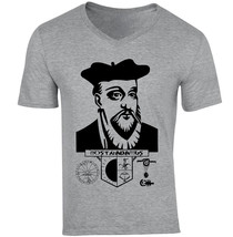 Nostradamus - New Cotton Grey V-NECK Tshirt - $20.70