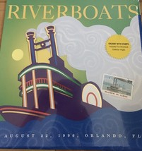 US FDC 32c Riverboats Souvenir  Aug 22 1996 Orlando, FL - Sealed in Wrap... - $16.00