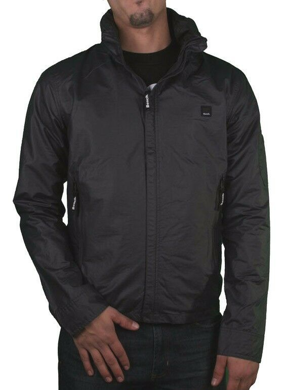 Bench Mens Cotton Polyamide Wax Electronica B Charcoal Grey Jacket with Hood NWT