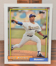 New Mint Topps trading card Baseball card 1992 Julio Machado 208 Brewers - $1.48