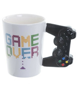 Game Controller Shaped Coffee Mug, Game Over Printed Ceramic Cup in Gift... - $19.49