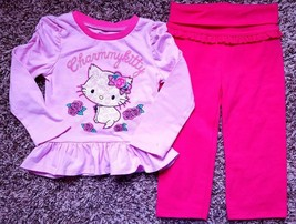 Girl's Size 18 M 12-18 Months 2 Piece Pink Glitter Charmmy Kitty L/S Top... - $20.00