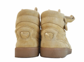 Women Tan Light Brown Suede Puma Size 8.5 Shoe Sneaker Athletic Casual High Top image 4