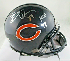 BRIAN URLACHER / NFL HALL OF FAME / AUTOGRAPHED CHICAGO BEARS MINI HELMET / COA image 1