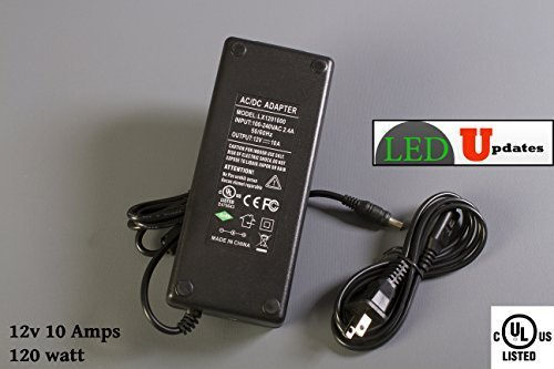 UL Listed AC 100-240V to DC 12V 10A 120w LED Power Adapter High Power Switching