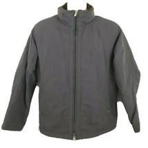 Armani Collezioni Grey Soft Fleece Lined Jacket Size 42 Hood Medium - $63.10
