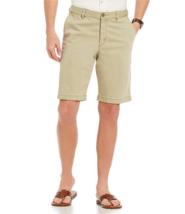 $79 Tommy Bahama Flat-Front Stretch Sateen Boracay Shorts, Khaki, S - $45.53
