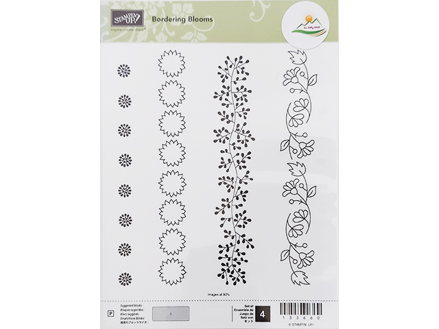 Stampin' Up! Bordering Blooms Clear Stamp Set #133660